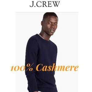 NWT J.Crew 100% Cashmere Crewneck Navy (M)
